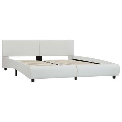 vidaXL Sängram vit konstläder 160x200 cm