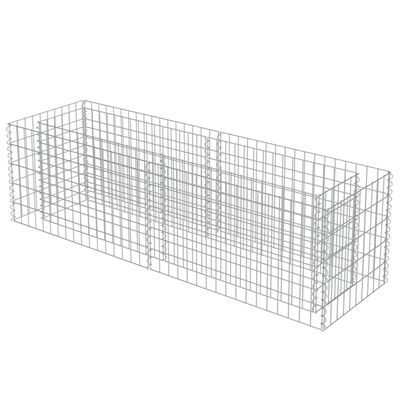 vidaXL Planteringsgabion upphöjd galvaniserat stål 180x50x50 cm
