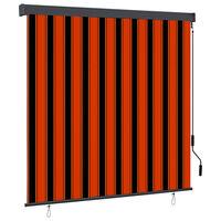 vidaXL Rullgardin utomhus 170x250 cm orange och brun