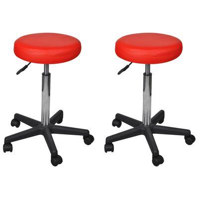 vidaXL Kontorspallar 2 st röd 35,5x98 cm konstläder