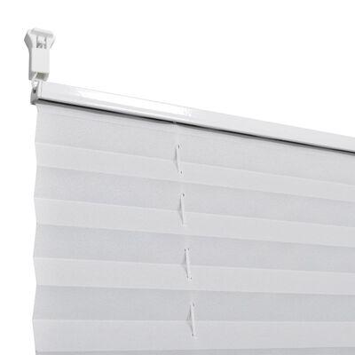 Plisségardin 110x125 cm vit