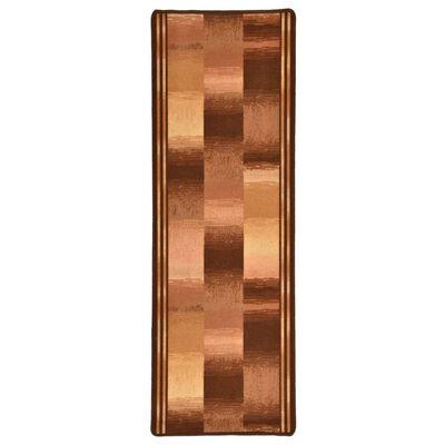 vidaXL Halkfri gångmatta beige block 67x200 cm