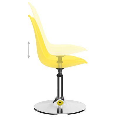 vidaXL Matstolar snurrbara 2 st gul konstläder