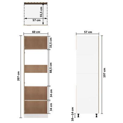 vidaXL Skåp för kylskåp sonoma-ek 60x57x207 cm spånskiva