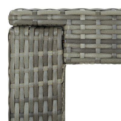 vidaXL Bargrupp för trädgården med dynor 7 delar konstrotting grå