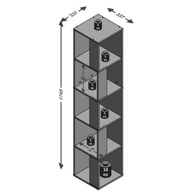 FMD Hörnhylla med 10 utrymmen sonama-ek