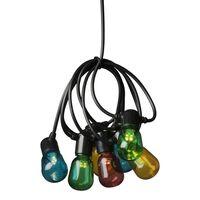 KONSTSMIDE Partylampor med 40 ovala lampor flerfärgade