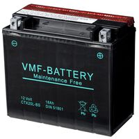 VMF Powersport Liquifix Batteri 12 V 18 Ah MF YTX20L-BS