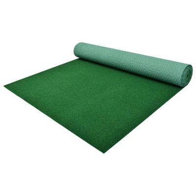 vidaXL Konstgräs med halkskydd 4x1 m grön