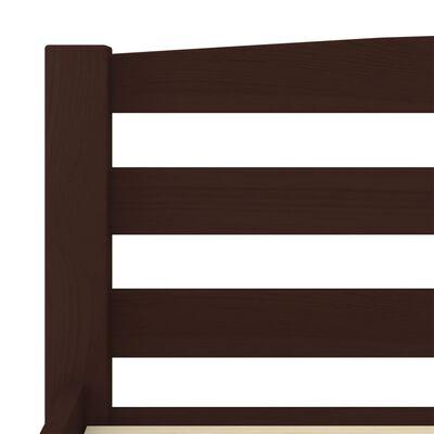 vidaXL Sängram mörkbrun massiv furu 90x200 cm