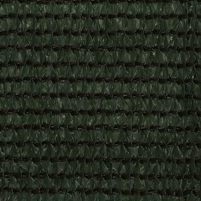 vidaXL Balkongskärm mörkgrön 90x600 cm HDPE