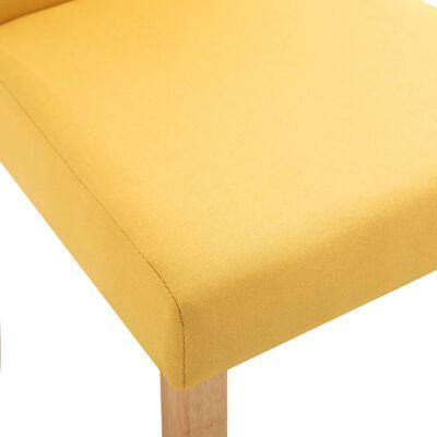 vidaXL Matstolar 2 st gul tyg