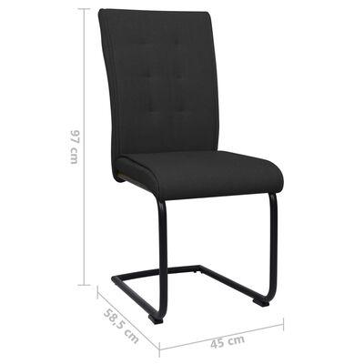 vidaXL Fribärande matstolar 6 st svart tyg