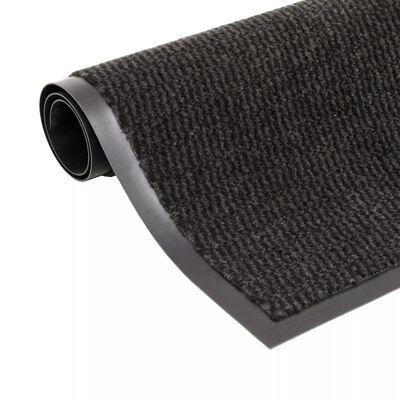 vidaXL Dörrmatta rektangulär tuftad svart 80x120 cm