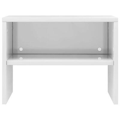 vidaXL Sängbord vit högglans 40x30x30 cm spånskiva