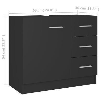 vidaXL Tvättställsskåp grå 63x30x54 cm spånskiva