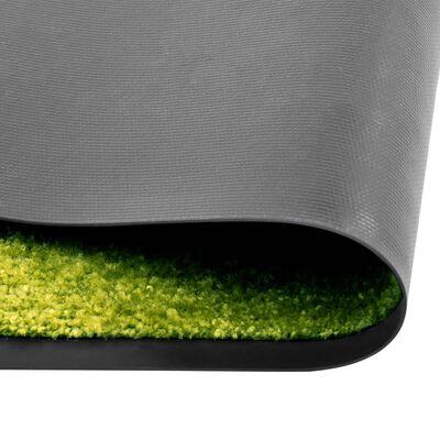 vidaXL Dörrmatta tvättbar grön 90x120 cm