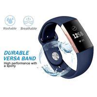 Fitbit Charge 3 armband silikon - marinblått - L