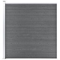 vidaXL Staketpanel WPC 175x186 cm grå