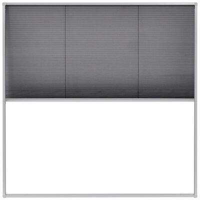 vidaXL Plisserat insektsnät för fönster 120x120 cm aluminium