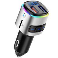 Liten Fm-sändare Med Bluetooth-handsfree, Usb Och Belysning