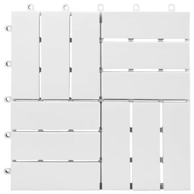 vidaXL Trall 10 st vit 30x30 cm massivt akaciaträ