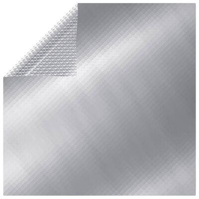 vidaXL Rektangulärt poolskydd 600x400 cm PE silver