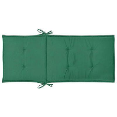 vidaXL Stolsdynor för trädgården 2 st 120x50x3 cm grön, Green