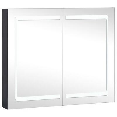 vidaXL Badrumsskåp med spegel LED 80x12,2x68 cm