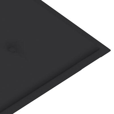 vidaXL Bänkdyna för trädgården 100x50x4 cm antracit
