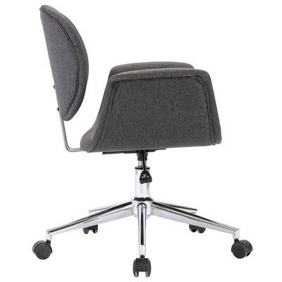 vidaXL Snurrbar kontorsstol grå tyg