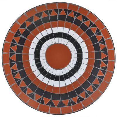 vidaXL Caféset 3 delar keramik terrakotta och vit