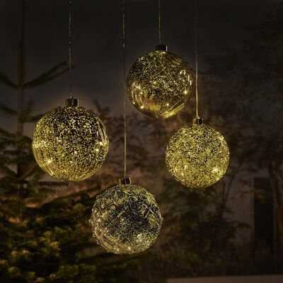 Luxform Batteridriven hänglampa LED Ball Swirl guld