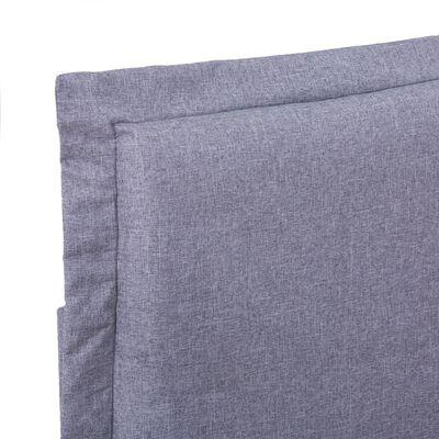vidaXL Sängram ljusgrå tyg 160x200 cm