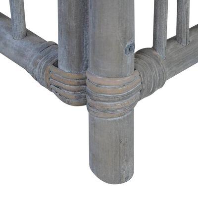 vidaXL Matstolar med dynor 2 st grå naturlig rotting