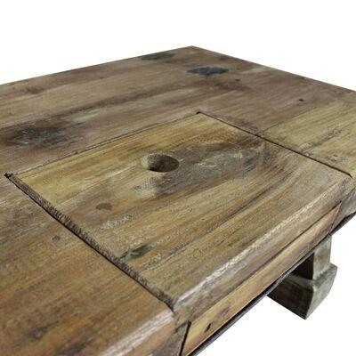 vidaXL Soffbord massivt återvunnet trä 90x50x35 cm