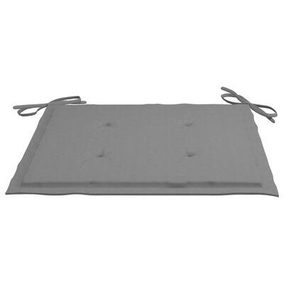 vidaXL Sittdynor för trädgården 6 st grå 50x50x4 cm tyg