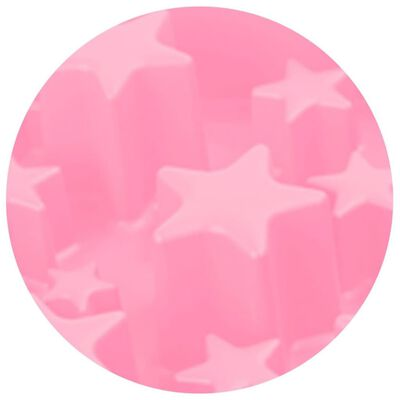 EAT SLOW LE LONGER Aktiveringsmatskål Star rosa L