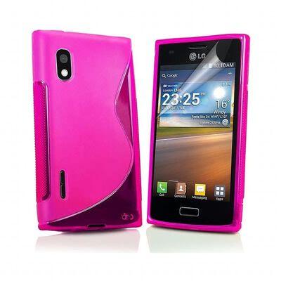 S Line silikon skal LG Optimus L5 (E610) Rosa,