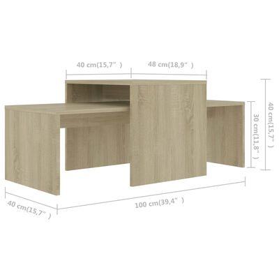 vidaXL Soffbord sonoma-ek 100x48x40 cm spånskiva