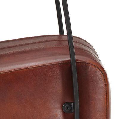 vidaXL Fåtölj brun äkta läder