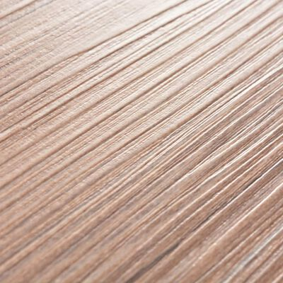 vidaXL Självhäftande PVC-golvplankor 5,02 m² 2 mm brun ek