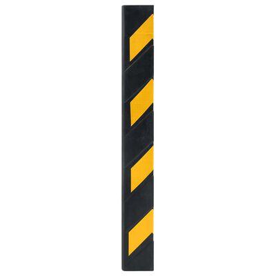 vidaXL Reflekterande stötskydd 10 st gummi 80 cm