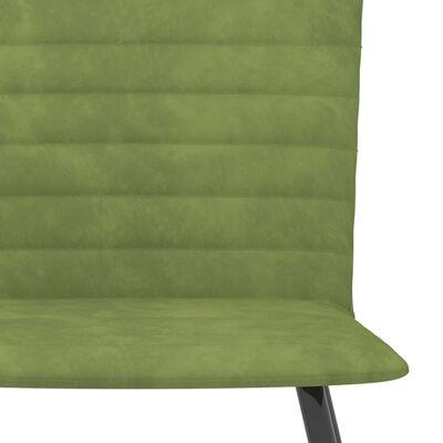 vidaXL Matstolar 2 st grön sammet