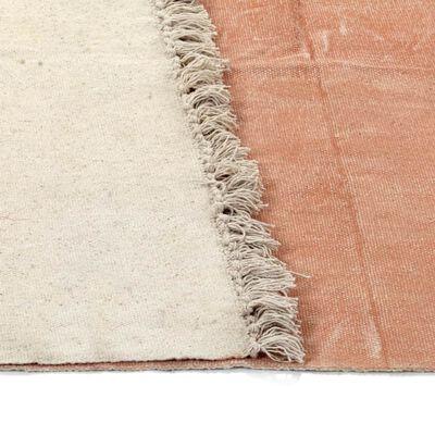 vidaXL Kelimmatta bomull 160x230 cm rosa