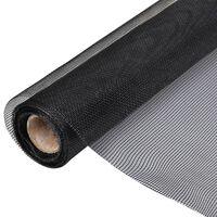 vidaXL Insektsnät glasfiberplast 150x1000 cm svart