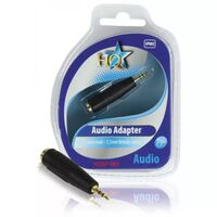 HQ Stereo Audio Adapter 2.5 mm Male - 3.5 mm Female Blue