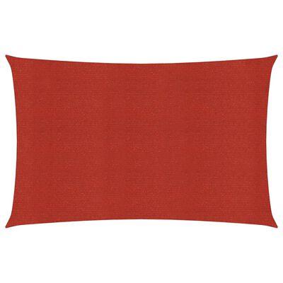 vidaXL Solsegel 160 g/m² röd 5x6 m HDPE