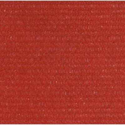 vidaXL Solsegel 160 g/m² röd 3x4 m HDPE