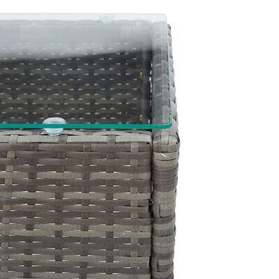 vidaXL Loungegrupp för trädgården med dyna 2 delar konstrotting grå